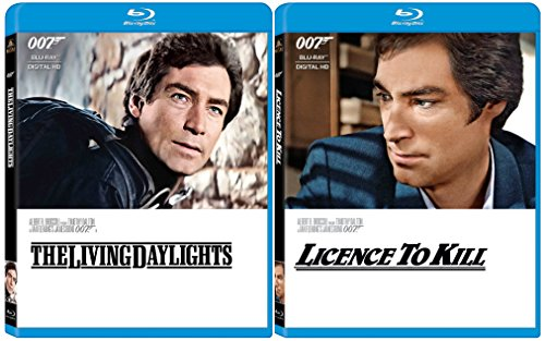 License To Kill & The Living Daylights Blu Ray 2 Pack James Bond 007 Timothy Dalton Set
