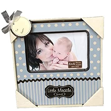 Amazon.com : New View Baby Boy Little Miracle Frame, 8 by 8 Inch ...
