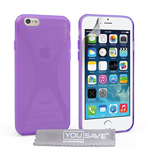 Yousave Accessories Silikon-Schutzhülle für iPhone 6, Lila