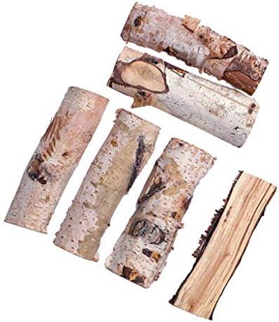 P Prettyia 木材チップ 木製 空白 木片 約200g 手作り カード クリスマス インテリア 装飾 全7サイズ - 約