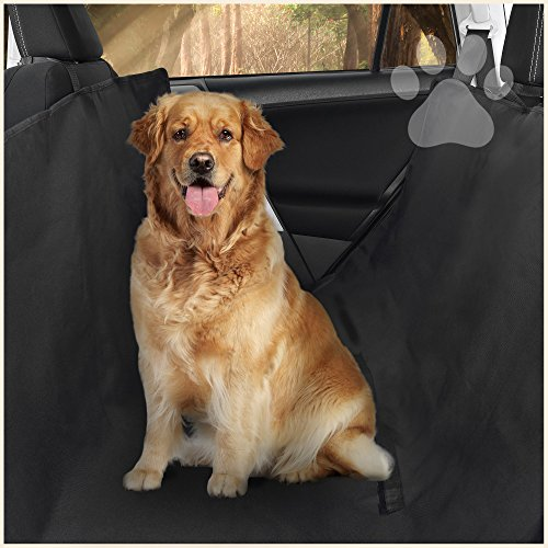 (Premium Dog Seat Covers for Cars by Ess & Craft - Perfect for Dogs & Cats - Adjustable Standard/Hammock Design - Compact & Foldable - Universal Fit Design - Black)