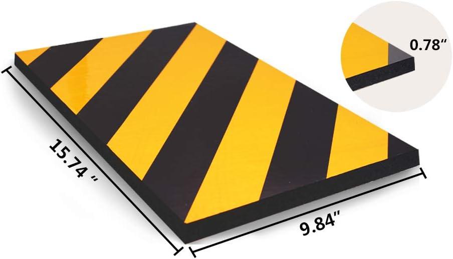 BEWAVE Protecteur de stationnement de voiture protecteurs de pare-chocs et caoutchouc anti-rayures Jaune/&Noir, Gardes Coin mousse de garde dangle de mur de garage