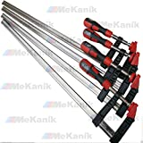 F Clamps Bar Clamp Heavy Duty 600 x 80mm 24' Long Quick Slide Wood Clamp 4pc Set