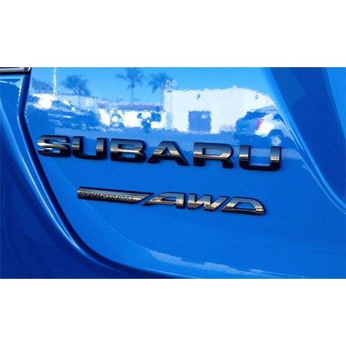 "[US스바루 직수입 순정품] SUBARU XV/impressor에 적합 ""Subaru Symmetrical AWD"" 리어 엠블럼 블랙"