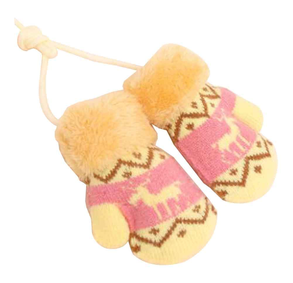C 1 Pair Baby Cute Gloves Warm Winter Gloves for Outdoor