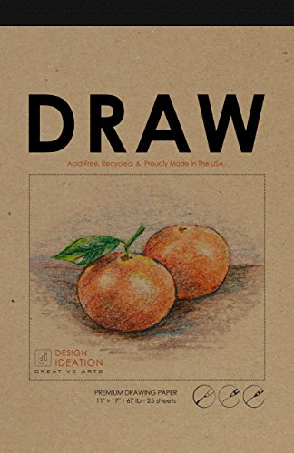 MADE IN THE USA: Premium Paper Drawing Pad for Pencil, Ink, and Marker. Great for Art, Design and Education. (Big 11'' x 17'') by Design Ideation