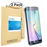 Galaxy S6 Edge Screen Protector, PULESEN [2-Pack] [Full Coverage] Samsung Galaxy S6 Edge Screen Protector Edge to Edge, Ultra Slim HD Clear, Anti-bubble Screen Protector for S6 Edge-Lifetime Warranty