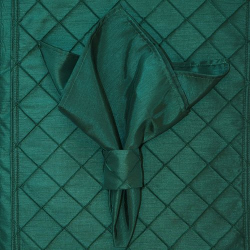 Rs4 Pin - Set of 4 Forest Green Shantung Cloth Napkins