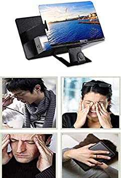 8 Screen Magnifier Smartphone Magnifying Glass Movie Video Screen Amplifier Bracket Desktop Foldable Stand Holder for iPhone Smartphone 3D Mobile Phone Enlarger Screen Anti-Radiation,Pink nyfcc