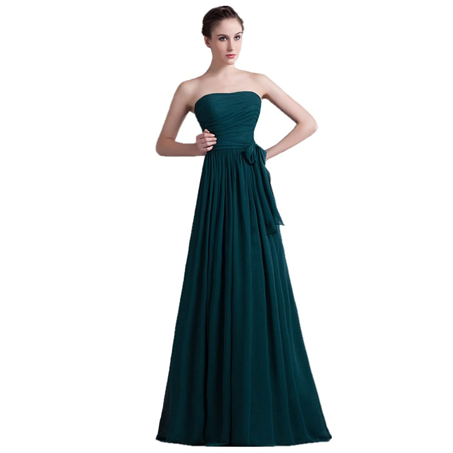 Jspoir Melodiz Women's Strapless Empire Full-length Bridesmaid Dress