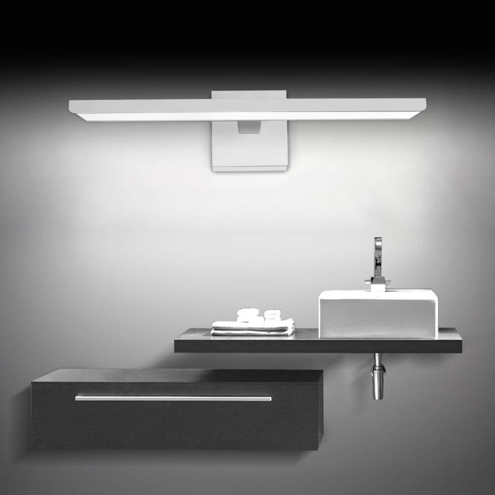 Ikakon Modern Vanity Lights Bathroom Wall Lights Aluminum Vanity Lamp 16W White by Ikakon (Image #8)