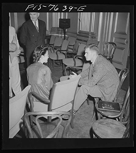 1942 Photo Washington, D.C. International youth assembly. Informal discussion between a Korean delegate, left, and a Canadian delegate Location: Washington D.C. (Best Korean Restaurant In Dc)
