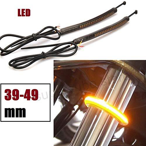 39mm-49mm Fork Turn Signal lights harley dyna street bob ring light fork lighting dyna wide glide fork ring LED lights super glide models