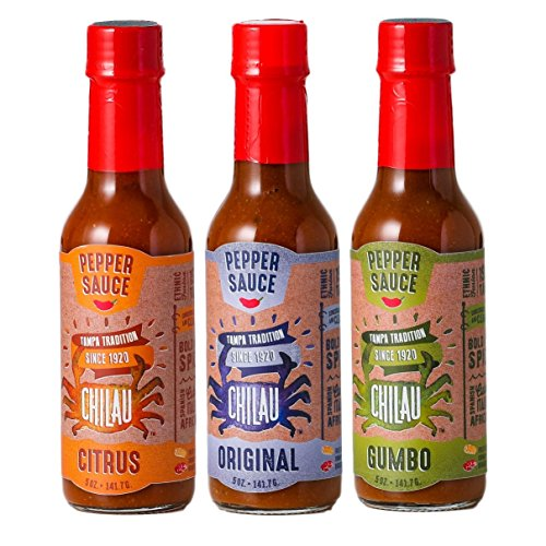 - Chilau Pepper Sauce Variety Pack- Original, Citrus, Gumbo - 5 oz - 3 Pack