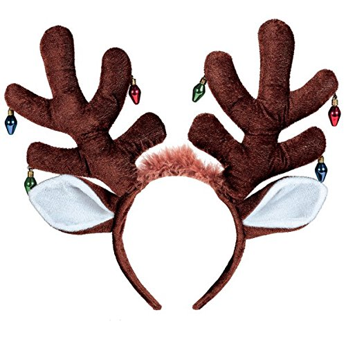 Earring Bulb Antler Headband | Christmas Accessory