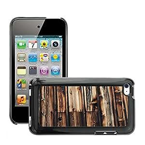 Etui Housse Coque de Protection Cover Rigide pour // M00150476 Madera de madera Fondo de pared // Apple ipod Touch 4 4G 4th