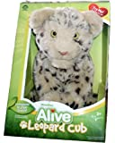 WowWee Alive 11 Inch Tall Baby Animal Pet Plush with Movement and Sounds - LEOPARD CUB with Moving Mouth, Soft Fur and Blinking Eyes Plus Birth Certificate and WowWee Alive Family Portrait