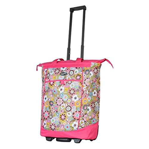 Olympia Luggage Rolling Shopper Tote (Tulip) by Olympia