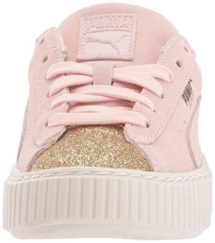 Pictures of PUMA Kids' Suede Platform Glam Sneaker Pink 36492207 6