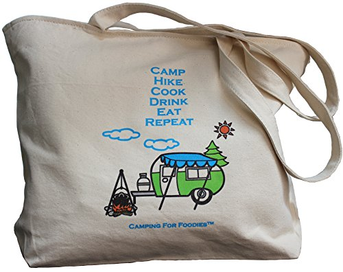 Canvas Tote Bag With Zipper made our list of Camping Gifts For Mom Fun And Unique Mother's Day Gift Idea Guide For Camping Moms