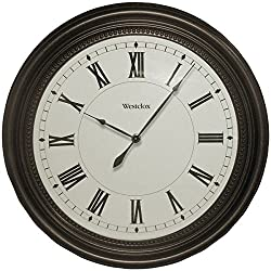 WESTCLOX 32223 16 Round Bronze Oil Rub Case Finish Clock