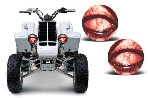 (AMR Racing ATV Headlight Eye Graphic Decal Cover for Yamaha Banshee 350 87-05 - Corrupt)