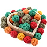 Baby Love Home Wooden Crochet Beads Teething 50pc Christmas Mix Color Baby DIY Teether Necklace Accessories for Mom