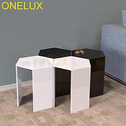 Stupendous Amazon Com Onelux 2Pcs Lot Hexagon Acrylic Sofa Table Spiritservingveterans Wood Chair Design Ideas Spiritservingveteransorg