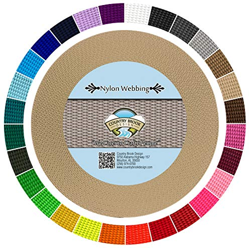Country Brook Design   Durable 1 Inch Heavy Nylon Webbing   29 Vibrant Colors (Copper Gold, 50 Yards)