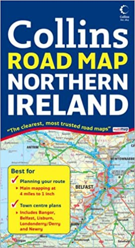 Northern Ireland Road Map Amazoncouk 9780007254590 Books
