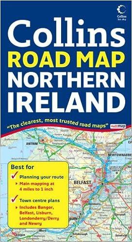 Road Map Of Northern Ireland.Northern Ireland Road Map Amazon Co Uk 9780007254590 Books
