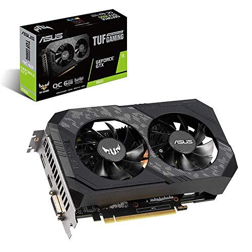 ASUS TUF Gaming GeForce GTX 1660 Overclocked 6GB Dual-Fan Edition HDMI DP DVI Gaming Graphics Card (TUF-GTX1660-O6G-Gaming) (Best Value Nvidia Card 2019)