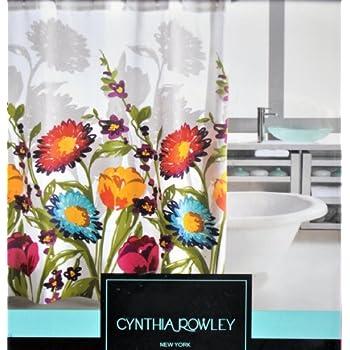 Cynthia Rowley Fiorina Floral Fabric Shower Curtain