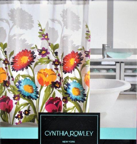 Cynthia Rowley Fiorina Floral Fabric Shower Curtain Floral Curtain Fabric