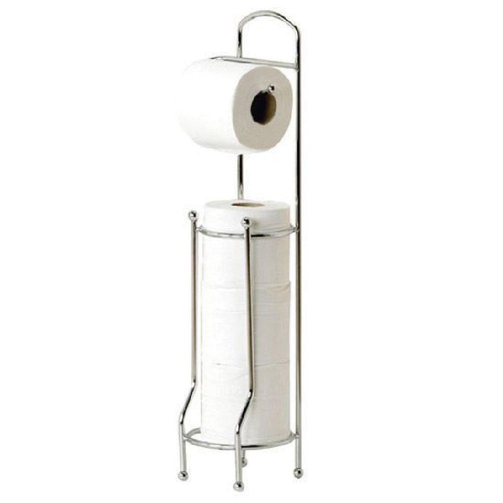 fun Free standing porta rotolo di carta igienica cromato di carta velina Storage dispenser stand Fun Daisy