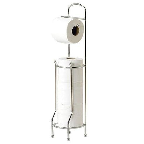 freistehender toilettenpapierhalter chrom papier tissue aufbewahrung spender stnder - Moderner Freistehender Toilettenpapierhalter