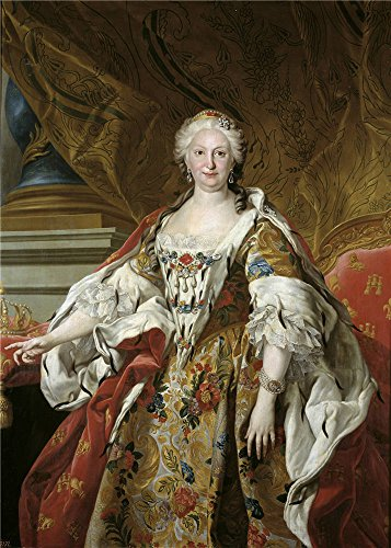 The High Quality Polyster Canvas Of Oil Painting 'Loo Louis Michel Van Isabel Farnesio Reina De Espana Ca. 1739 ' ,size: 30 X 42 Inch / 76 X 107 Cm ,this High Quality Art Decorative Prints On Canvas Is Fit For Bedroom Decoration And Home Artwork And Gifts