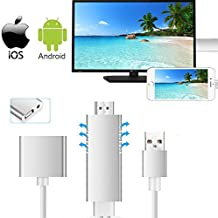 Lighting to HDMI Cable Adapter for IOS/Android, Weton HD 1080P Video Lightning Digital AV Cable AirPlay HDTV Adapter MHL to HDMI Video Adapter for iphone X 8 plus Samsung to TV/Projector/Monitor