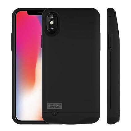 Amazon.com: rictex iPhone X carcasa de batería recargable de ...
