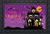 "Briarwood Lane Happy Haunting Halloween Doormat Haunted House Indoor Outdoor 18"" x 30"""