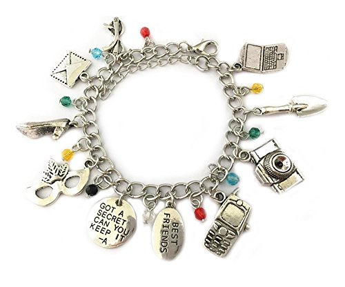 New Horizons Production Pretty Little Liars Assorted Metal Charms Bracelet