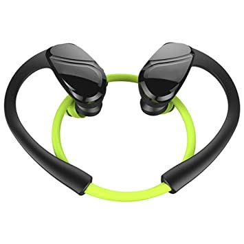 Auriculares Bluetooth H6 de GEZICHTA, auriculares inalámbricos deportivos Bluetooth V4.2 con micrófono integrado