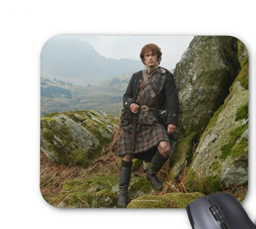 Outlander | Jamie Fraser - Leaning On Rock Mouse pad 7x8.66 inch perfecone