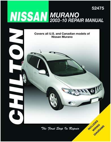 nissan murano: 2003 thru 2010 paperback – november 16, 2011