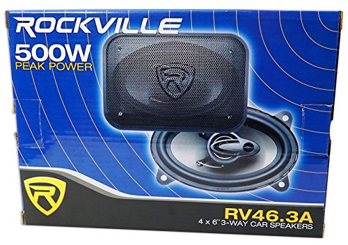 Pair Rockville RV46.3A 4x6'' 3-Way Car Speakers 500 Watts/70 Watts RMS CEA Rated by Rockville (Image #8)