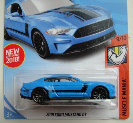 Amazon.com: Hot Wheels 2018 50th Anniversary Muscle Mania 2018 Ford Mustang GT 216/365, Blue: Toys & Games