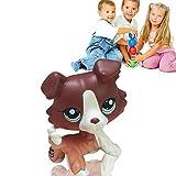 Vinplay Littlest Pet Shop LPS Tan Brown Black Gray Short Hair Cat Dog Toy Rare for Kids Gifts (Dog 1)