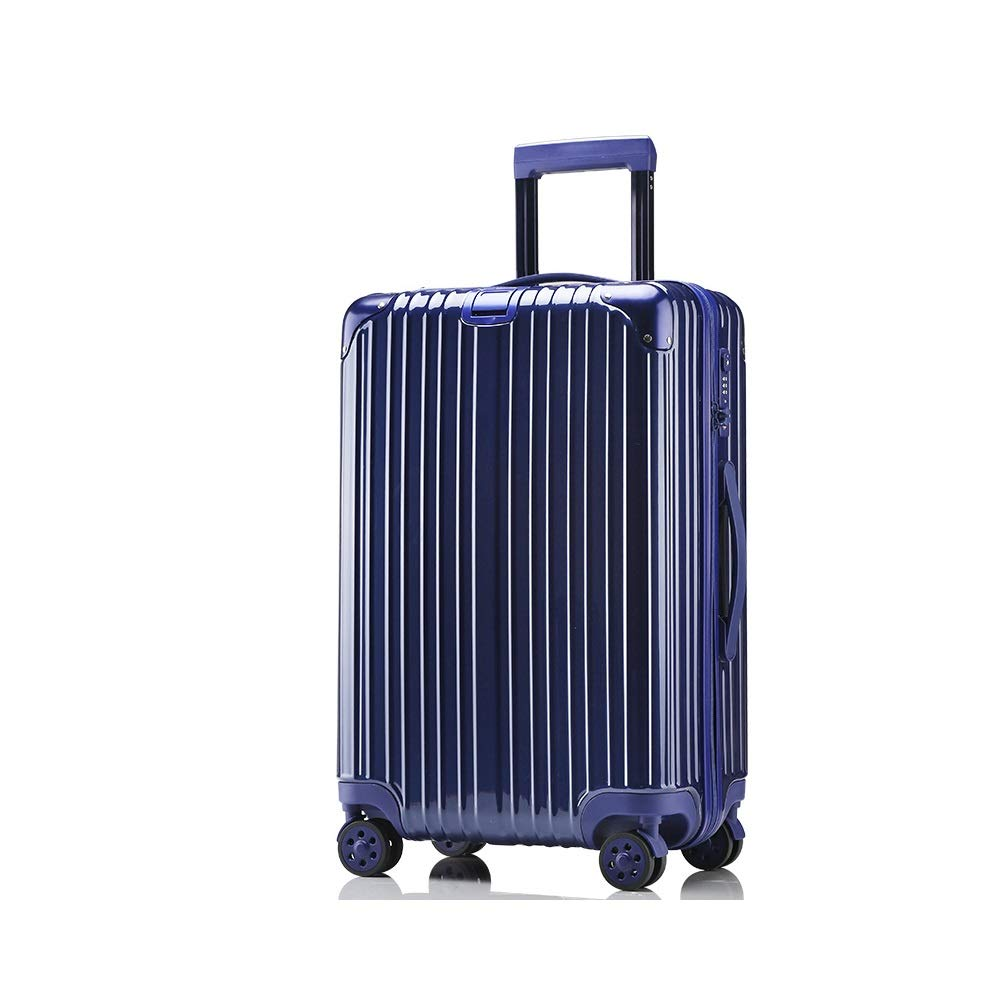 MinMin ブルー、ローズゴールド、シルバー、ラゲッジスーツケースユニバーサルユニバーサルホイール搭乗トロリーケースファッション、64センチ×42センチ×26センチ 旅行スーツケース (Color : A, Size : 64cmX42cmX26cm) B07V2Y2CWS A 64cmX42cmX26cm