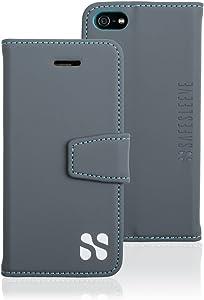 SafeSleeve EMF Protection Anti Radiation iPhone Case: iPhone SE and iPhone 5/5s RFID EMF Blocking Wallet Cell Phone Case (Grey)