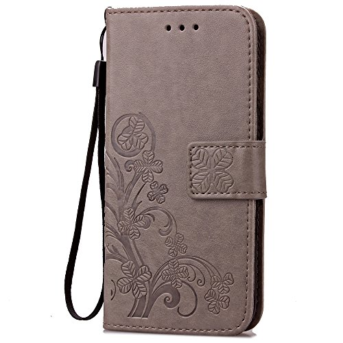 fashion-floral-clover-embossed-pu-leather-magnetic-flip-cover-card-holders-hand-strap-wallet-purse-c